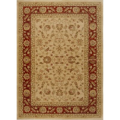 Antiqua Traditional Border 7-Foot 8-Inch x 10-Foot 2-Inch Area Rug in Beige