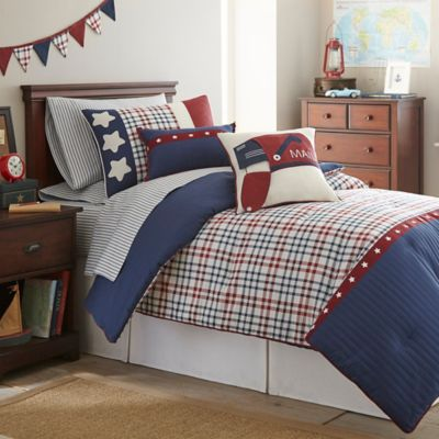 Frank and Lulu Star Spangled 2-Piece Twin Comforter Set in Navy