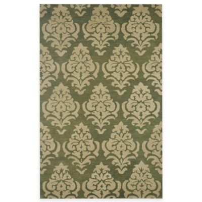 Rizzy Home Bradberry Downs Damask 3-Foot x 5-Foot Area Rug in Rust