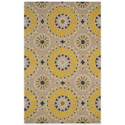 Rizzy Home Bradberry Downs Medallion 5-Foot x 8-Foot Area Rug in Light Gold