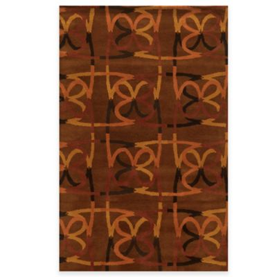 Rizzy Home Bradberry Downs Scribble 3-Foot x 5-Foot Area Rug in Espresso