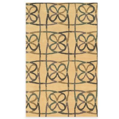 Rizzy Home Bradberry Downs Scribble 5-Foot x 8-Foot Area Rug in Natural