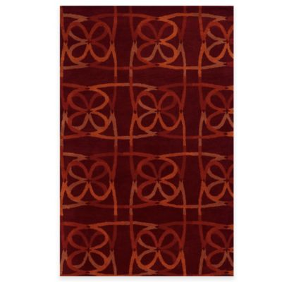 Rizzy Home Bradberry Downs Scribble 5-Foot x 8-Foot Area Rug in Scarlet