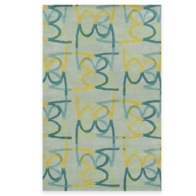 Rizzy Home Bradberry Downs Scribble 5-Foot x 8-Foot Area Rug in Sky Blue