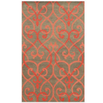 Rizzy Home Bradberry Downs 3-Foot x 5-Foot Area Rug in Coral