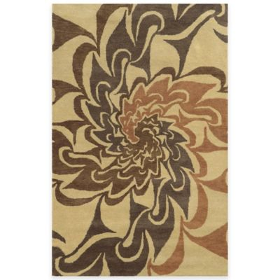 Rizzy Home Bradberry Downs Swirl 3-Foot x 5-Foot Area Rug in Grey