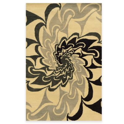 Rizzy Home Bradberry Downs Swirl 5-Foot x 8-Foot Area Rug in Black