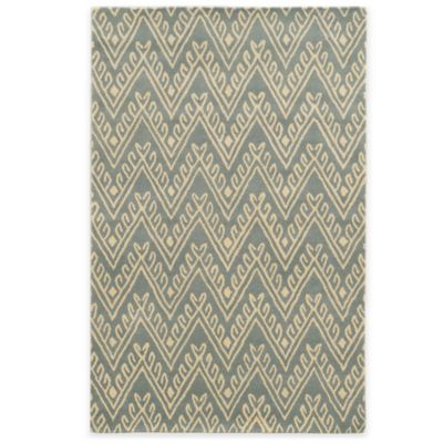 Rizzy Home Bradberry Downs Chevron 2-Foot 6-Inch x 8-Foot Runner in Light Grey