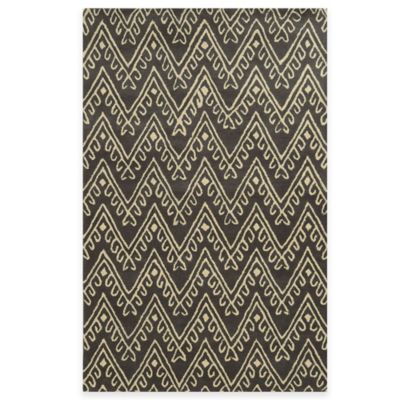 Rizzy Home Bradberry Downs Chevron 2-Foot 6-Inch x 8-Foot Runner in Dark Grey