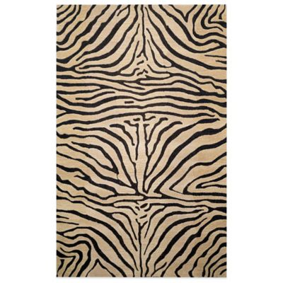 Seville Zebra 4-Foot 10-Inch x 7-Foot 10-Inch Room Size Rug