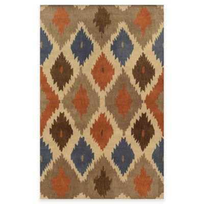 5 Brown Wool Rug