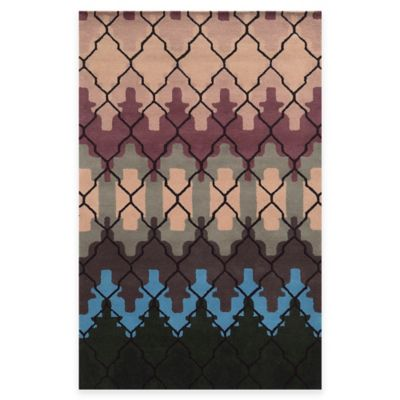 Rizzy Home Bradberry Downs Trellis 5-Foot x 8-Foot Rug in Brown