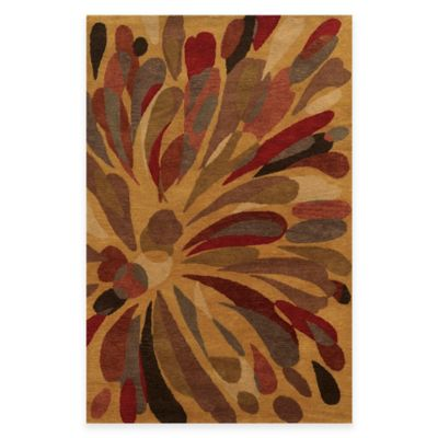 Rizzy Home Bradberry Downs Floral 3-Foot x 5-Foot Area Rug in Gold/Multicolor