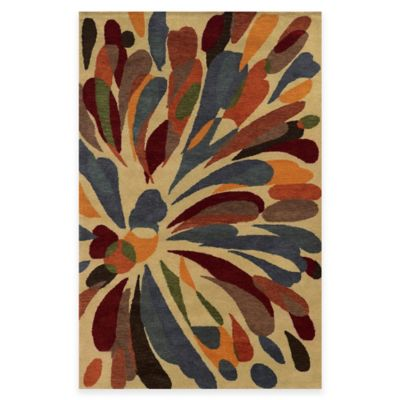 Rizzy Home Bradberry Downs Floral 2-Foot x 3-Foot Accent Rug in Gold/Multicolor