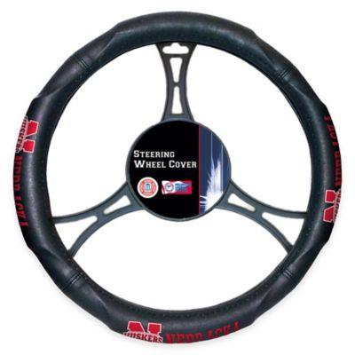 NCAA University of Nebraska Steering Wheel Cover