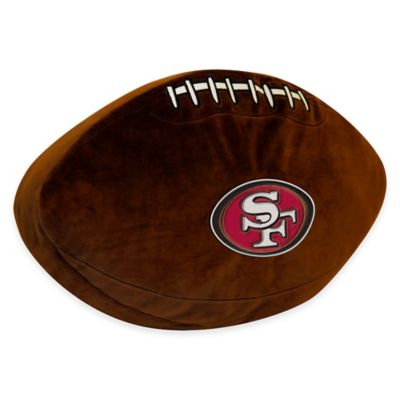 NFL San Francisco 49ers 3D Football Plush Pillow