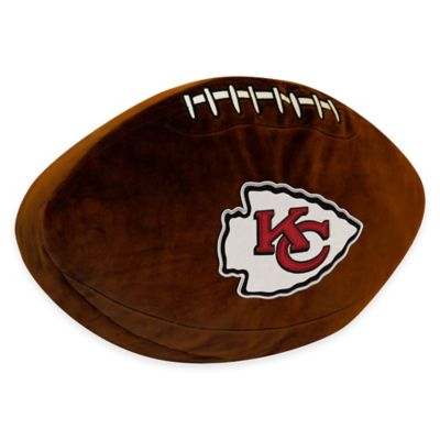 NFL Kansas City Chiefs 3D Football Plush Pillow