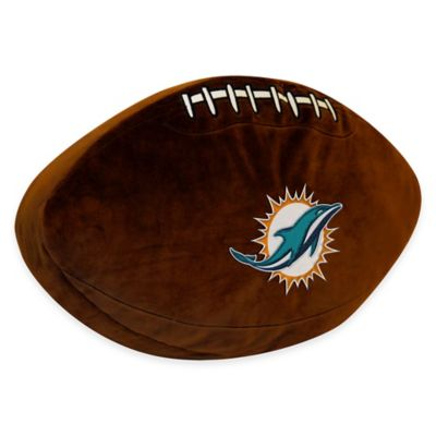 NFL Miami Dolphins 3D Football Plush Pillow
