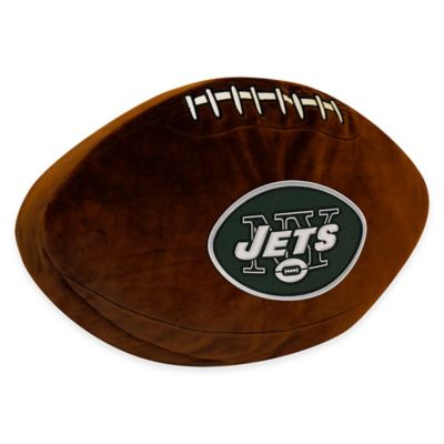 NFL New York Jets 3D Football Plush Pillow