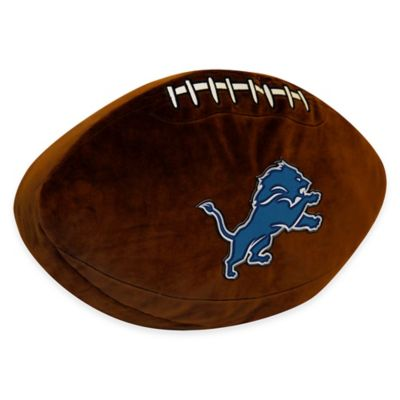NFL Detroit Lions 3D Football Plush Pillow