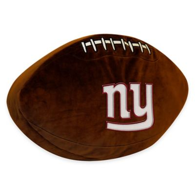 NFL New York Giants 3D Football Plush Pillow