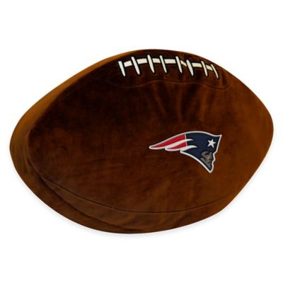 NFL New England Patriots 3D Football Plush Pillow