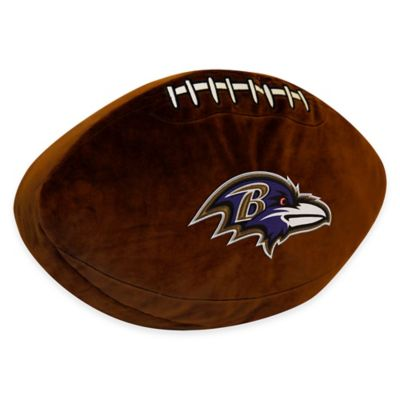 NFL Baltimore Ravens 3D Football Plush Pillow