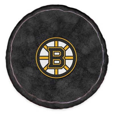NHL Boston Bruins 3D Hockey Puck Plush Pillow