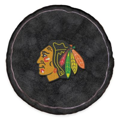 NHL Chicago Blackhawks 3D Hockey Puck Plush Pillow