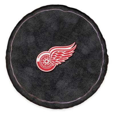 NHL Detroit Red Wings 3D Hockey Puck Plush Pillow