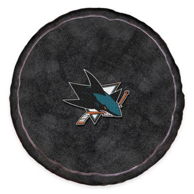 NHL San Jose Sharks 3D Hockey Puck Plush Pillow