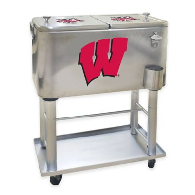 NCAA University of Wisconsin 60 qt. Stainless Steel Cooler