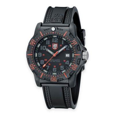 Luminox® Men's 45mm Black Dial Watch with Black Resin Strap