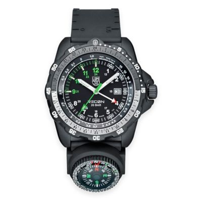 Luminox® Recon Series Men's 46mm Navigation Specialist Compass Watch with Black Rubber Strap
