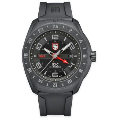 Luminox® Men's 45mm Grey Dial Watch in Stainless Steel with Black Rubber Strap