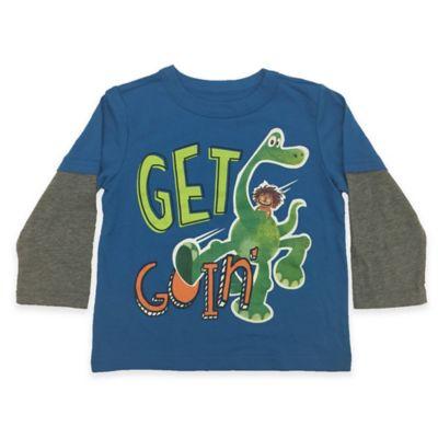 "FREEZE Size 12M Disney® The Good Dinosaur ""Get Goin'"" Long-Sleeve Shirt in Blue"