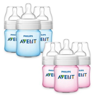 AVENT Classic+ 3-Pack 4 oz. Bottles in Blue