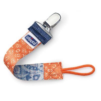 Chicco® NaturalFit™ Fashion Pacifier Clip in Orange Fleur