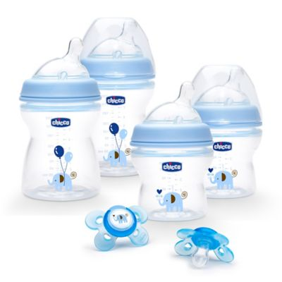 Chicco® NaturalFit® Stage 1 Feeding Gift Set in Blue Deco
