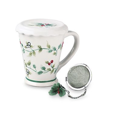 Pfaltzgraff® Winterberry 12-Ounce Covered Mug with Tea Infuser