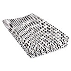 Trend Lab® Chevron Deluxe Flannel Changing Pad in Navy/Grey
