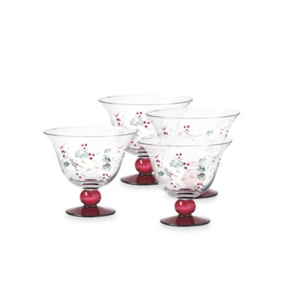 Pfaltzgraff® Winterberry 4 1/2-Inch Dessert Bowls (Set of 4)