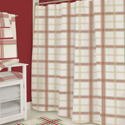 Plaid Bath Shower Curtains