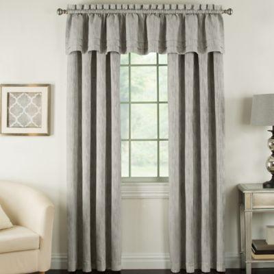 Beatrix 63-Inch Rod Pocket Lined Window Curtain Panel in Flint