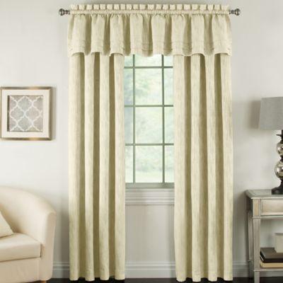 Beatrix 84-Inch Rod Pocket Lined Window Curtain Panel in Raffia