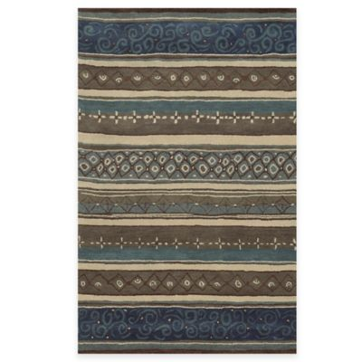 Rizzy Home Bradberry Downs Striped 3-Foot x 5-Foot Area Rug in Grey/Multicolor