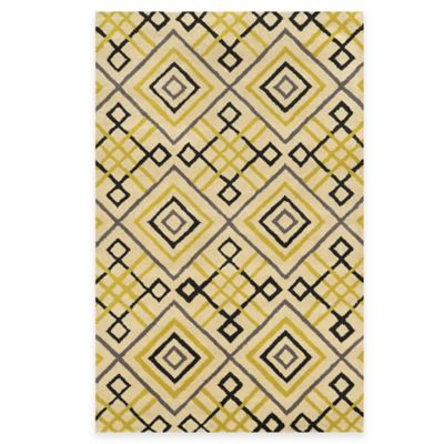 Rizzy Home Bradberry Downs Diamond Tile 5-Foot x 8-Foot Area Rug in Ivory