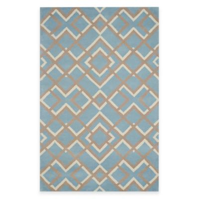 Rizzy Home Bradberry Downs Diamonds 3-Foot x 5-Foot Area Rug in Light Blue