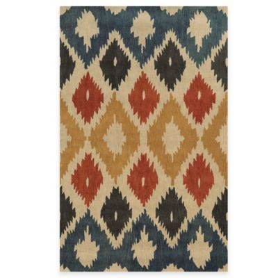 Rizzy Home Bradberry Downs Ikat Diamonds 2-Foot 6-Inch x 8-Foot Runner in Beige