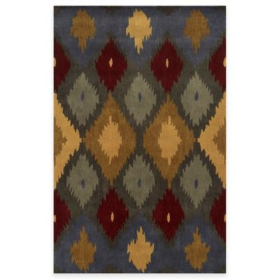 Rizzy Home Bradberry Downs Ikat Diamonds 5-Foot x 8-Foot Area Rug in Ash